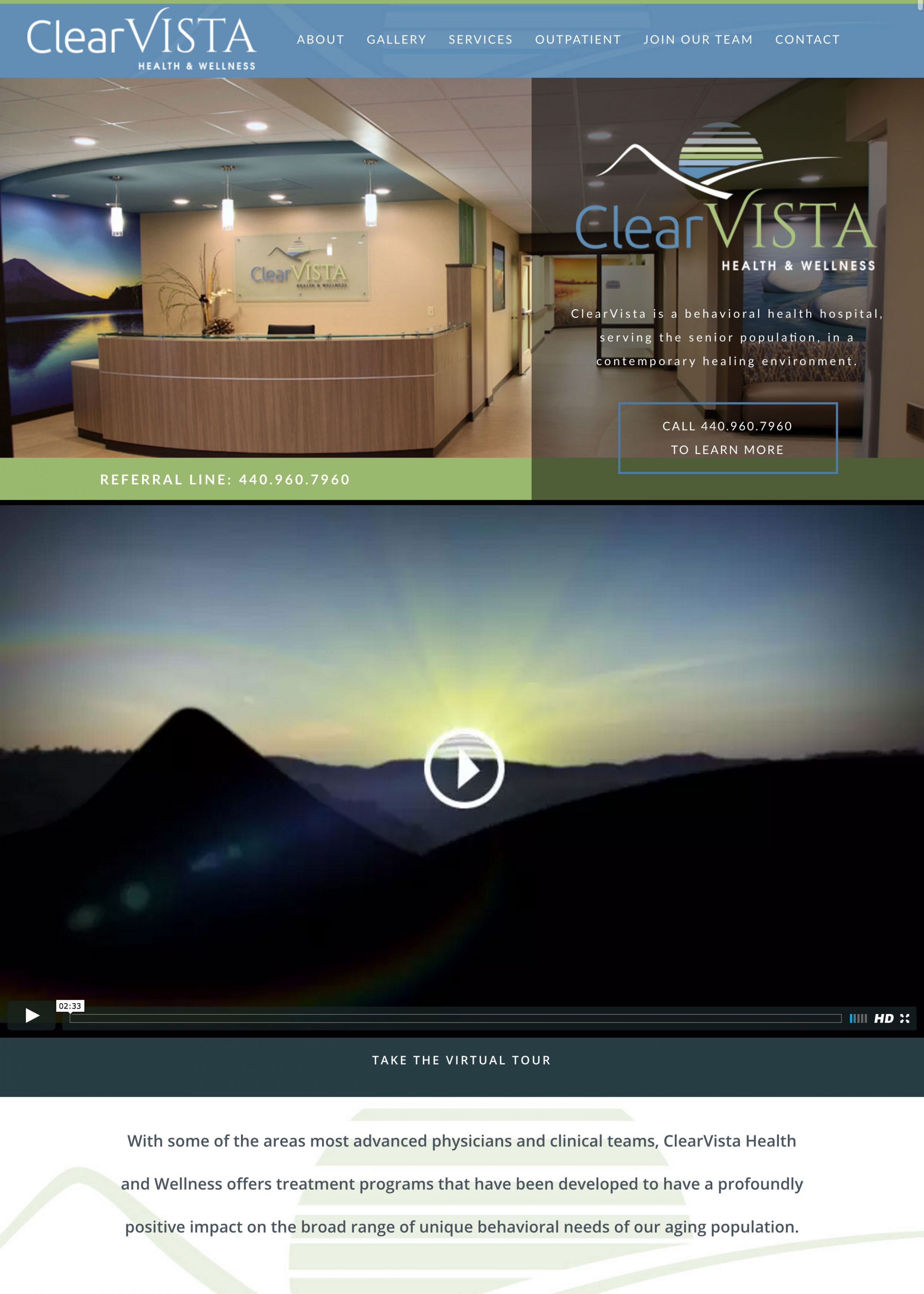 Clear Vista Website