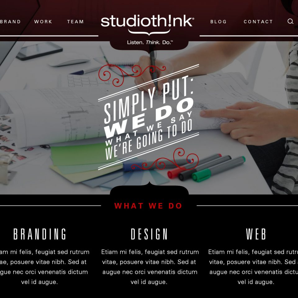 Studiothink Website